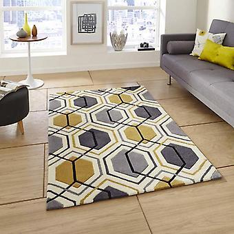 Rugs -Hong Kong Hexagon - HK7526 Grey Yellow