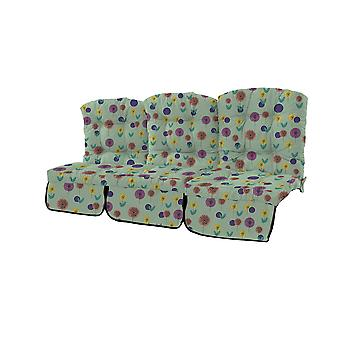 Gardenista® Water Resistant Spots Green Print Tufted 3 Seater Swing Seat Cushion