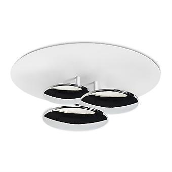 Strata plafond licht chroom / wit - Leds-C4 15-4921-21-14