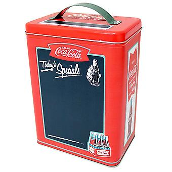 Coke Tall Chalkboard Surface Rectangle Tin with handle