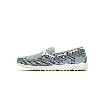 Swims Swims Grey & White Breeze Leap Laser Loafer