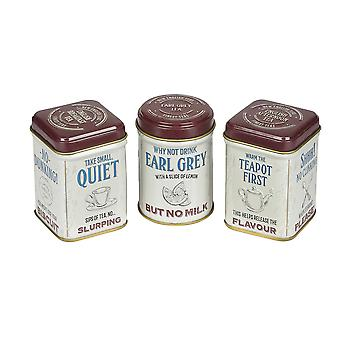 Guide to tea drinking triple mini tea tin gift pack