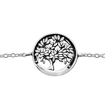 Tree Of Life - 925 Sterling Silver Chain Bracelets - W31549X