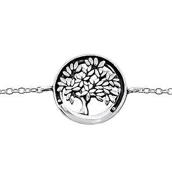 Livets træ - 925 Sterling sølv kæde armbånd - W31549X