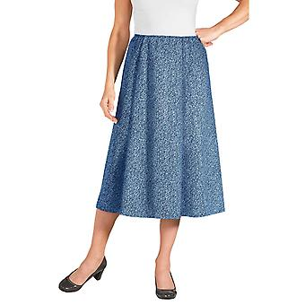 Ladies Womens Tweed Effect Skirt Length 25 Inches
