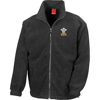 De Royal Welsh-gelicentieerd Britse leger geborduurd zwaargewicht fleece jas