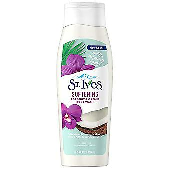 St. ives softening body wash, coconut and orchid, 13.5 oz