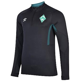 2019-2020 Werder Bremen Umbro Half Zip Training Top (Black)