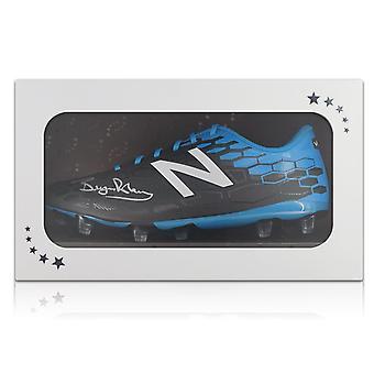 Bryan Robson signé chaussure de Football dans une boîte cadeau