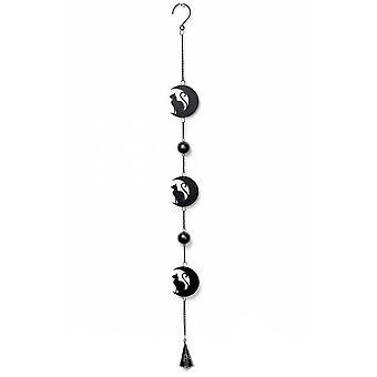 Alchemy Gothic Black Cat & Moon Hanging Decoration
