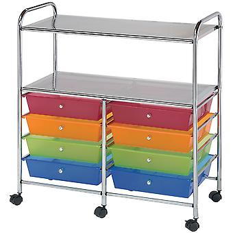 Storage Cart with 8 Drawers 31.74