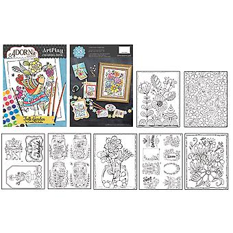 AdornIt ArtPlay Coloring Book-Folk Garden CB810-22