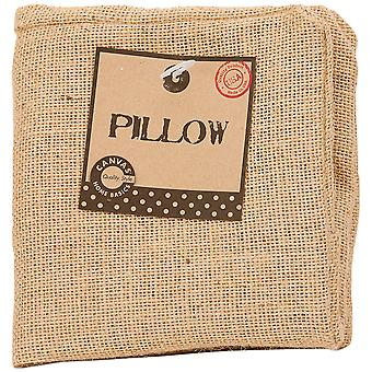 Burlap Pillow Square 12