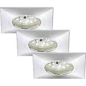 LED bathroom flush mount light 3-piece set 15 W Warm white Briloner 7205-038 Chrome