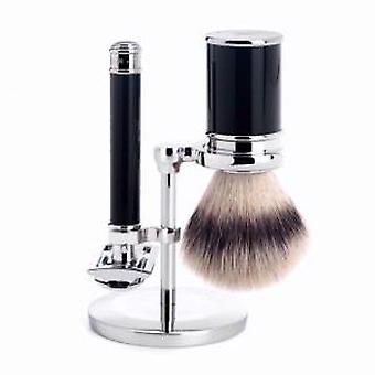 Zwarte Muhle Safety Razor & synthetische Shaving Brush Set