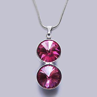 Pendant necklace with Swarovski crystals PMB 3.1