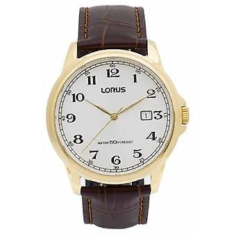 Lorus Mens Brown Leather RS982AX9 Watch