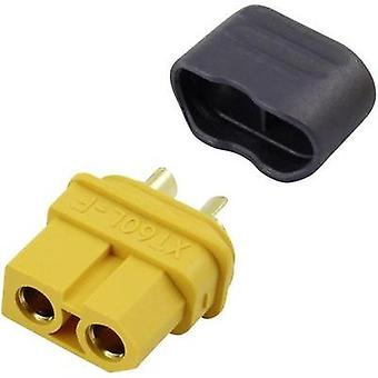 Battery receptacle Gold-plated 1 pc(s) Reely