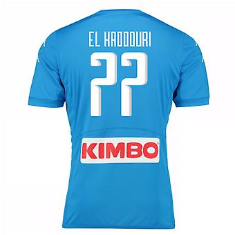 2016-17 Napoli Authentic Home Shirt (El Kaddouri 77)