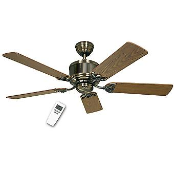 DC ceiling fan Eco Elements Brass antique with remote