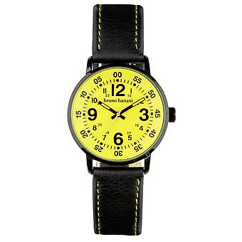 Bruno Banani watch wrist watch of Moros leather analog BR30014