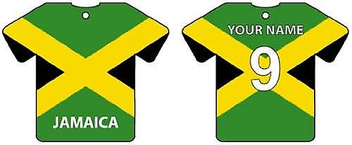 Personalised Jamaica Flag Jersey Car Air Freshener