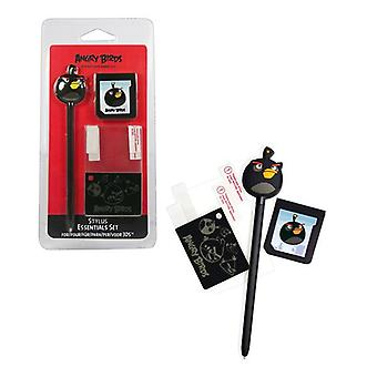ANGRY BIRDS Stylus Essentials Set (3PC) per Nintendo 3DS Black Bird (35195)