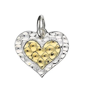 925 Sterling Silver Breathing Heart Pendant with Silver Chain ~ 20+2 inch extender Chain