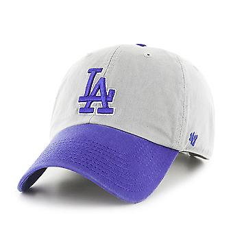 47 Brand MLB LA Dodgers Clean Up Cap - Grey