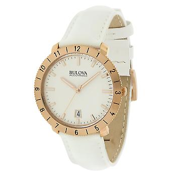 Bulova Accutron Moonview Leather Unisex Watch 97B128