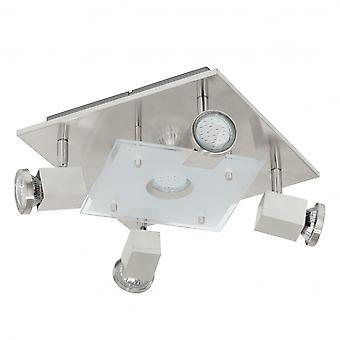 Eglo PAWEDO Square Glass Ceiling 4 Light