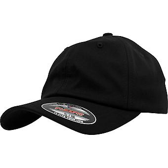 Flexfit low profile Light wooly stretchable Cap - Black