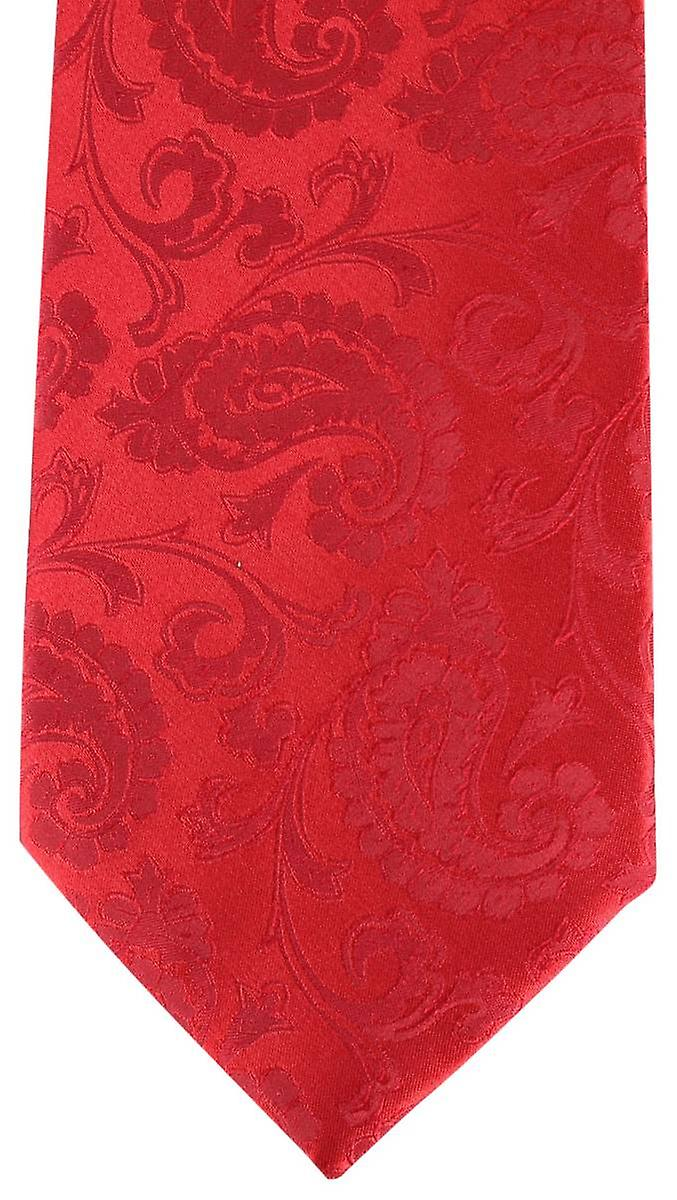 David Van Hagen Paisley Tie - Red