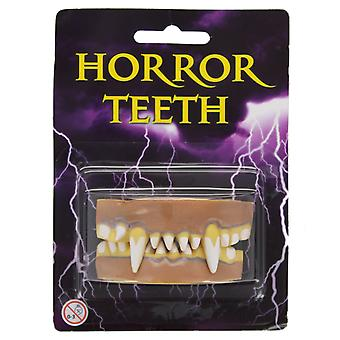 Adults Horror Rotten Vampire Dracula Teeth Fangs Halloween Fancy Dress Accessory
