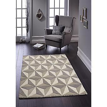 Alfombras cubics gris rectángulo alfombras llano casi llanos