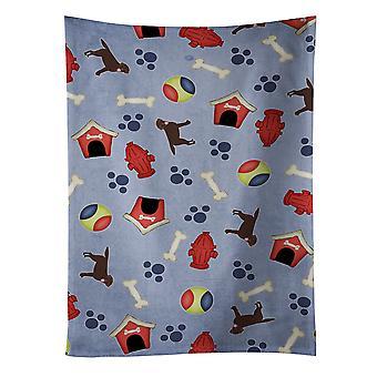 犬の家コレクション チョコレート ラブラドル ・ レトリーバー犬・ キッチン タオル