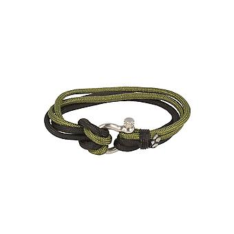 Baxter jewelry London bracelet black green Schmuck sporty nylon screw cap 21.5 cm