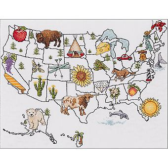 State By State Counted Cross Stitch Kit-13