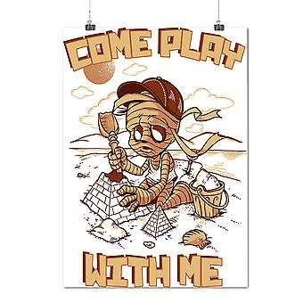 Matte or Glossy Poster with Come Play With Me Zombie | Wellcoda | *d2031