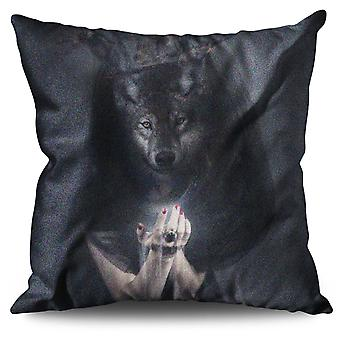 Wolf King Beast Animal Linen Cushion Wolf King Beast Animal | Wellcoda