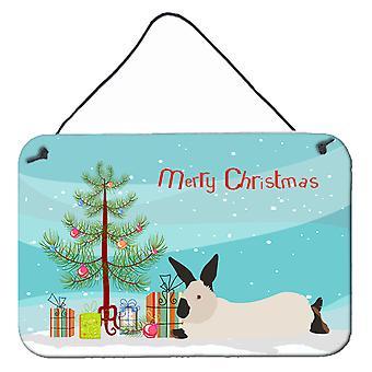 California hvit kanin Christmas veggen eller dør henger utskrifter