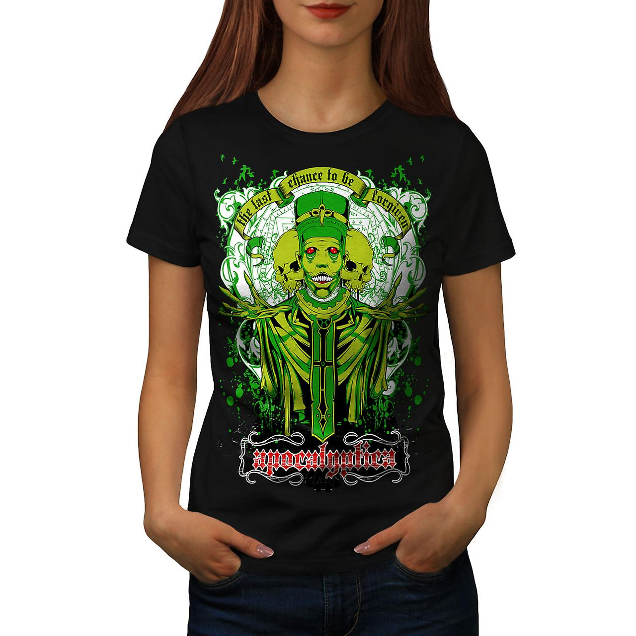 Apocalyptica Death Zombie Women Black T-shirt | Wellcoda