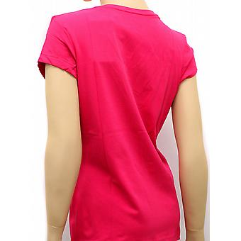 Reebok Womens Deep V Tee Candy Pink T-shirt