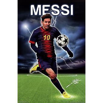 Messi - Relmpago Poster Print