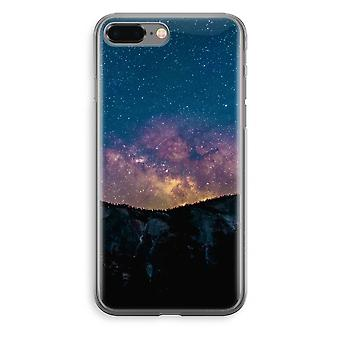 iPhone 8 Plus Transparant Case - Travel to space