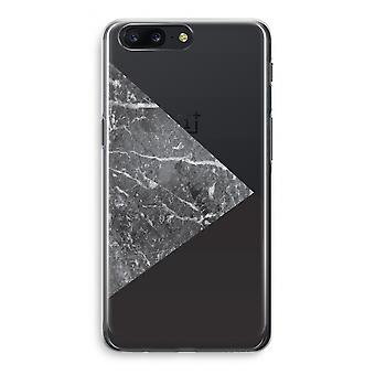 OnePlus 5 Transparant Case - Marble combination
