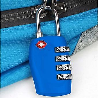 TRIXES 4-Dial TSA Combination Padlock for Luggage Suitcases and Travel Bright Blue