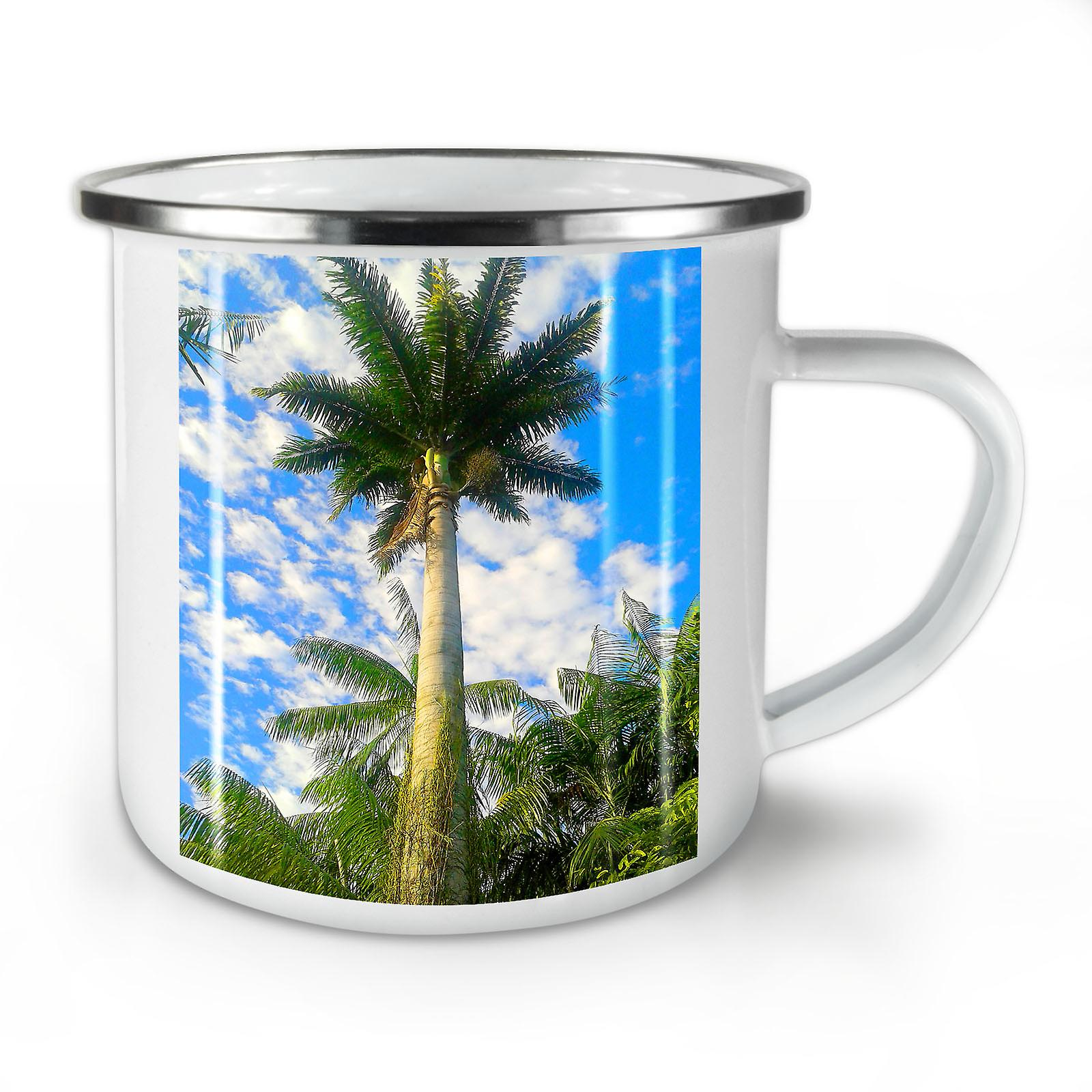 Whitetea Bleu Café Palmier Mug10 Ciel Nouvelle Mer Émail OzWellcoda pUMSzLVGq