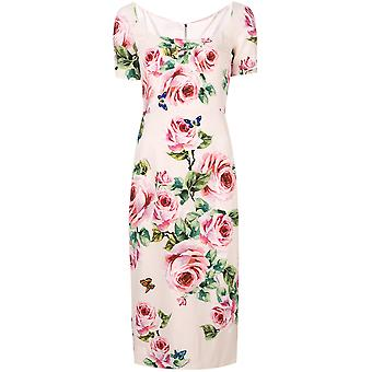 Dolce E Gabbana ladies F67J4TFSRI3HAH41 pink rayon dress