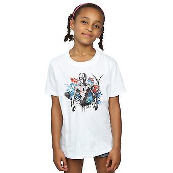 Marvel Girls Spider-Man Graffiti Pose T-Shirt